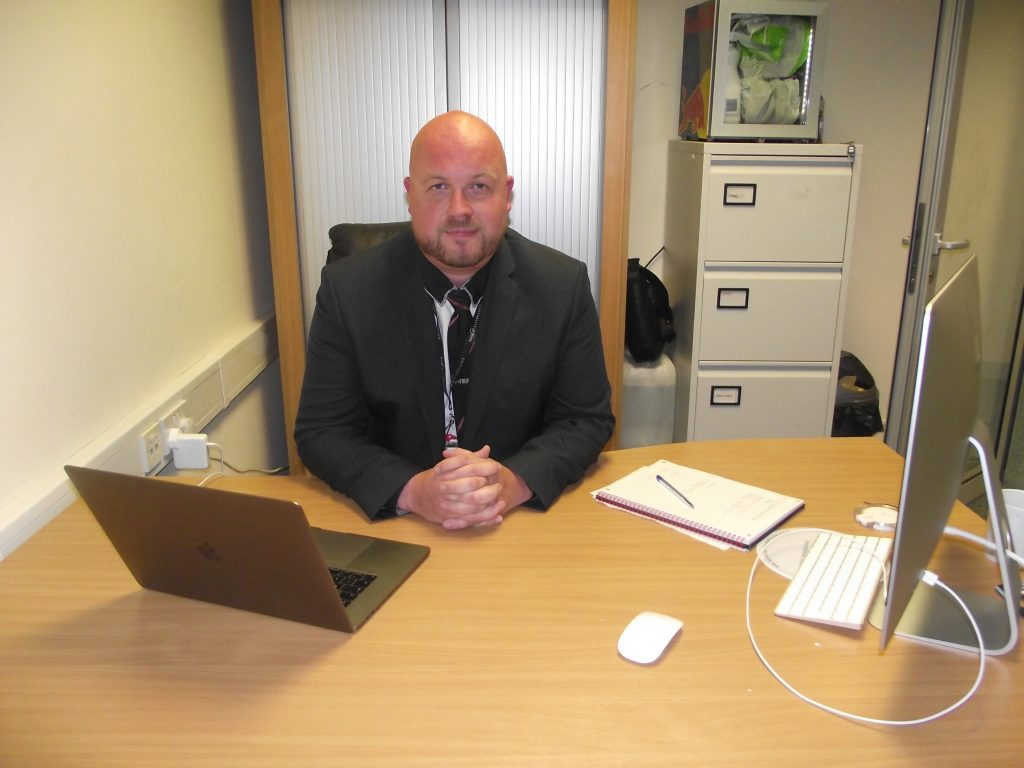 Our Managing Director, Charlie Iffans at his desk